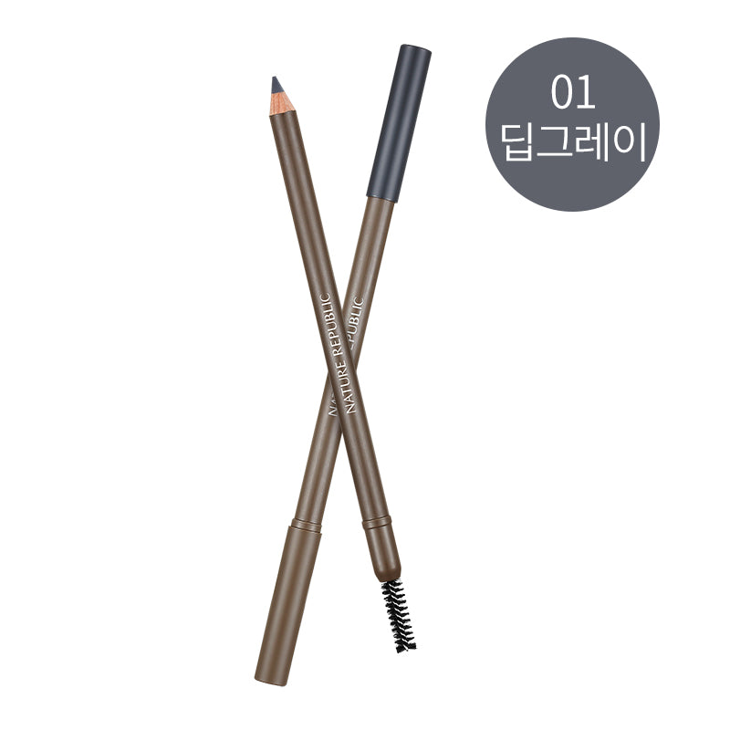 By Flower Wood Eyebrow 01 Deep Gray