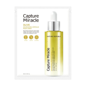 Capture Miracle Ampoule Mask Sheet Olive