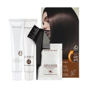 Hair & Nature Hair Color Cream 6S Natural Brown