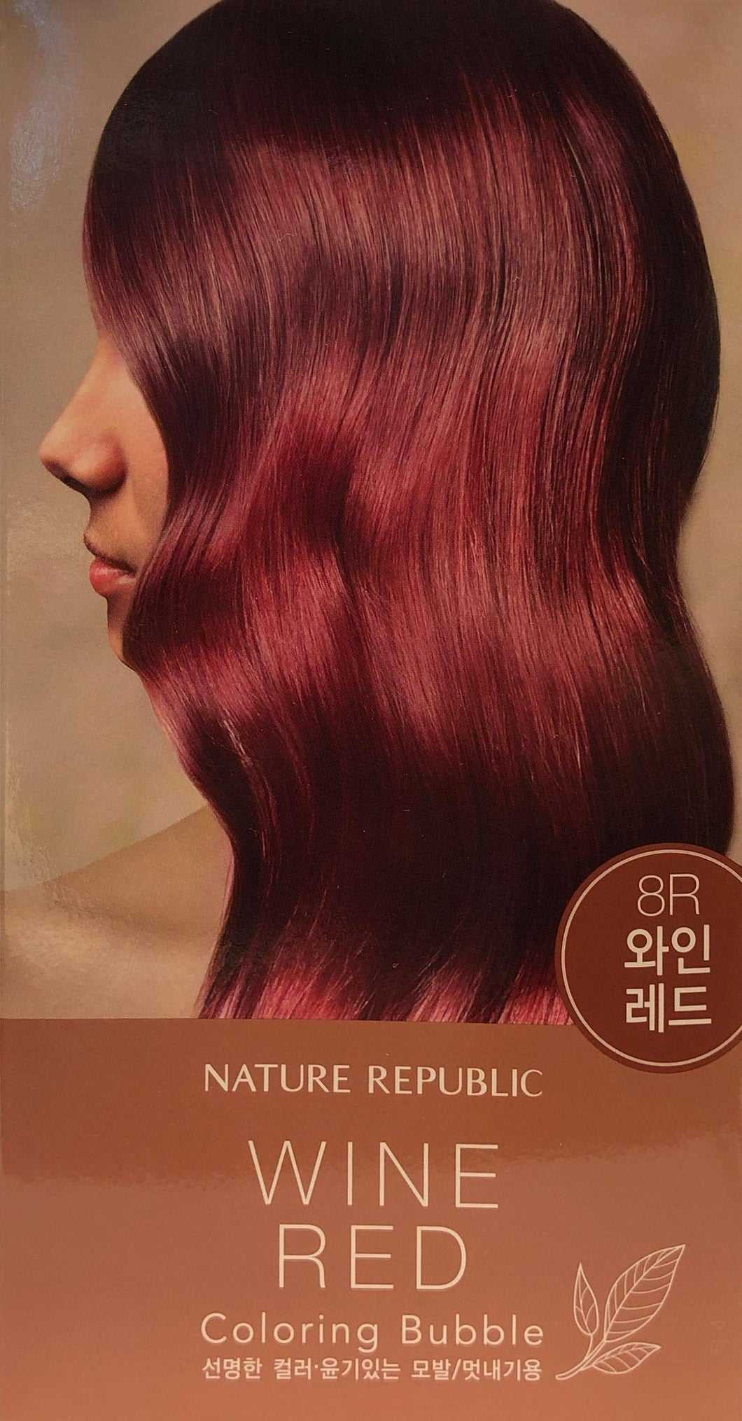Hair & Nature Coloring Bubble 8R Wine Red