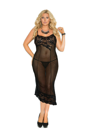 Mesh Gown With G-string