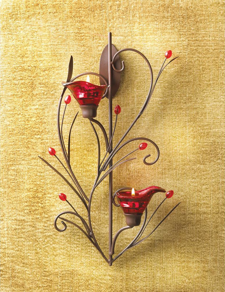 Flower Sconce Wall Mounted Candle Holder Heroism Store