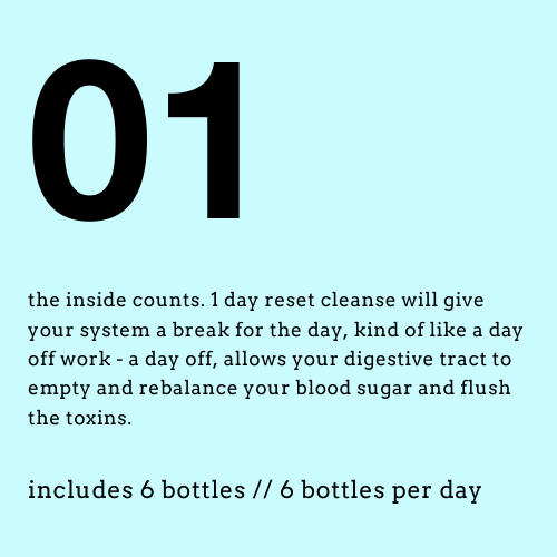1 day reset cleanse