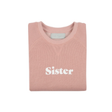 "Bob & Blossom - Sweatshirt ""Sister"" faded blush"