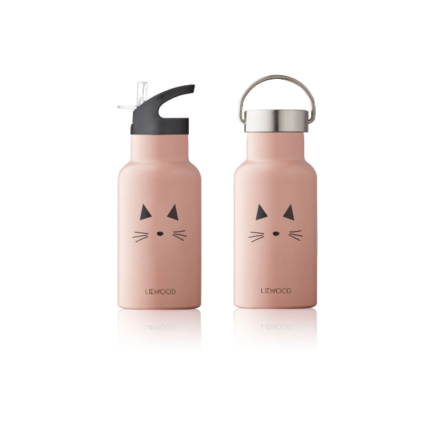 Liewood - Anker Water Bottle - Cat Rose
