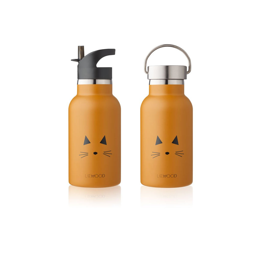 Liewood - Anker Water Bottle - Cat mustard