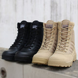 Mountaineering anti-skid as war boots high gang desert tactical boots SWAT military boots real leather boots 07 speed out of boo