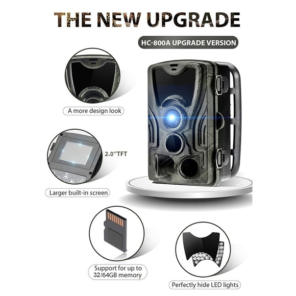 HC801A 16MP Low glow LED light  Hunting camera 1080P 0.3s Trigger Game Trail  Wildlife  Photo trap Scouts Hunter camera chasse
