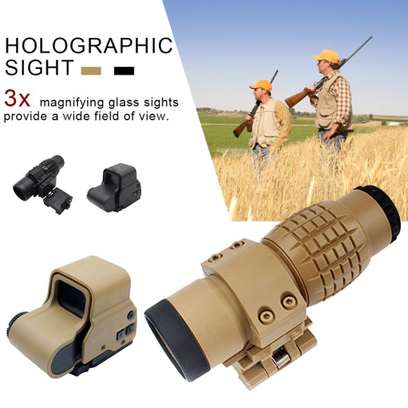 Hunting 3x Magnifier Riflescope Magnifying Scope For Riflescopes Mount Fits Holographic And Reflex Sight For Toy Gun Plastic