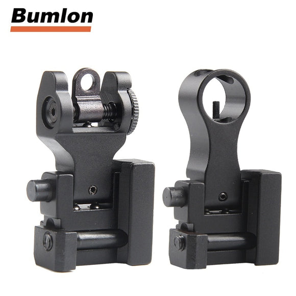 Rear Sight Front for Tactical Hunting Airsoft Gun Accessories Front Rear Sight AR 15 AR15 Offset Backup Rapid Transition BUIS