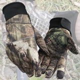 2 in1 Full finger and Half finger Hunting Camouflage Gloves Anti-Slip tactical gloves policia Camping Camo Glove fit jungle