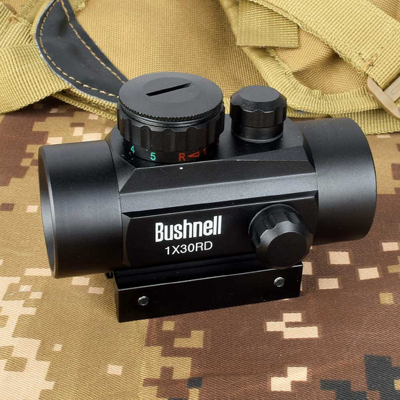 Holographic 1x30 Red Dot Sight Airsoft Red Green cross Sight Scope Hunting Scope 11mm 20mm Rail Mount Collimator Sight