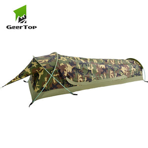 GeerTop BivyII Bivvy Tent Ultralight One Person 3 Season Camping Tents with Mosquito Net Waterproof Easy Set Up for Hike Tourist