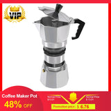 High quality Aluminium Percolator Coffee Maker Pot for Outdoor Home Office Camping Milk Water coffee pot 50/150/300/450/600ML