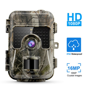 MINI Hunting Camera 1080P HD 16MP Hunting Trail Camera Video Infrared Night Vision Hunting Game Camera Photo Traps Hunter