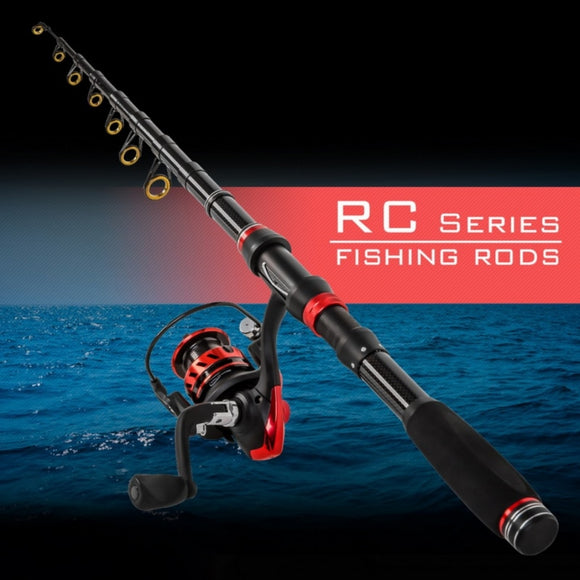 Portable Travel Sea Fishing Pole High Quality Carbon Fiber Spinning Fishing Rod 1.8m/2.1/2.4m/2.7m/3.0m Telescopic Fishing Rods