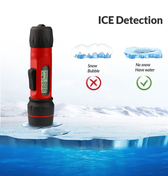 WILDGAMEPLUS F12 Ice Detector Fish Finder Wireless Sonar Fishing Finder 90m Depth Sounder Fishfinder for Winter ICE Fishing Gear