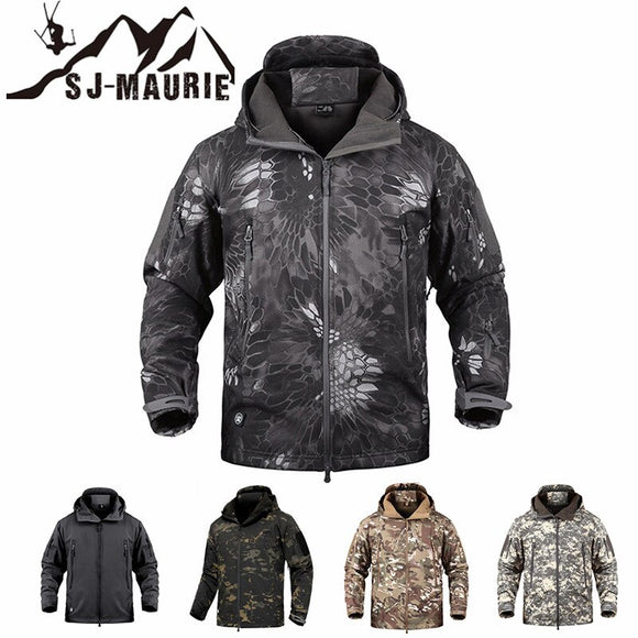 Waterproof Outdoor Men Military Tactical Hunting  Jacket Windbreake Fleece Hunting Clothes Fishing Hiking Jacket Winter Coat New