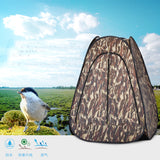 Camouflage watching bird/photography single hide Hiking Easy Setup Instant Pop up Tent Portable anti-UV tent with silver coated