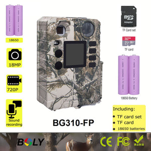 100ft 0.7s BolyGuard full set of hunting trail game scoutguard cameras TF card batteries all included photo traps