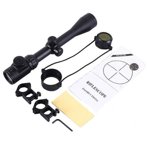 3-9x40 Hunting Scope Red Green Dot Sight Adjustable Riflescope Mounts Tactical marking Cam With 11MM/20MM Bracket