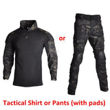 Men Tactical Uniforms Shirt or Pants Camouflage Military Hunter Clothing Airsoft Paintball CS Combat Hunting Clothes