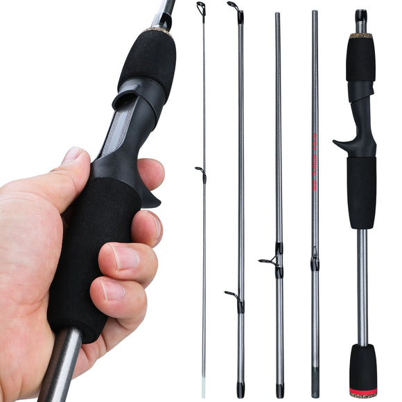 Sougayilang New 5 Section Portable Travel Fishing Rod Ultralight Weight Eva Handle Spinning/Casting Fishing Pole Fishing Tackle