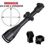 Hunting MINOX ZA 5i HD 5-25x56 SFIR Riflescopes Illuminated Glass Etched Reticle Side Parallax Turrets Lock Reset Shooting Scope