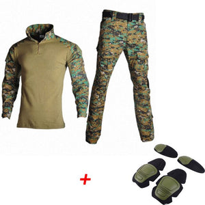 US Army Hunting Clothing Tactical Military Uniform Camouflage Combat-Proven Shirts Rapid Assault Long Sleeve Hunter Ghillie Suit