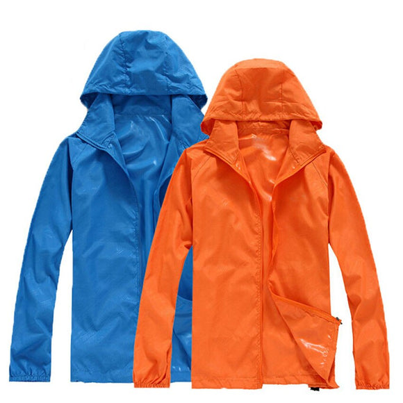 Men Women Quick Dry Skin Hiking Jackets Waterproof Anti-UV Coats Outdoor Sports Brand compress Cloth Camping Male Female Jacket