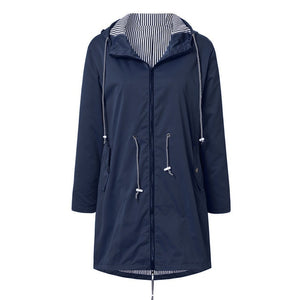 10 Colors Plus Size Female Solid Rain Jackets Outdoor Hiking Waterproof Windproof Loose Coat With Hooded For Women Winter Cloth