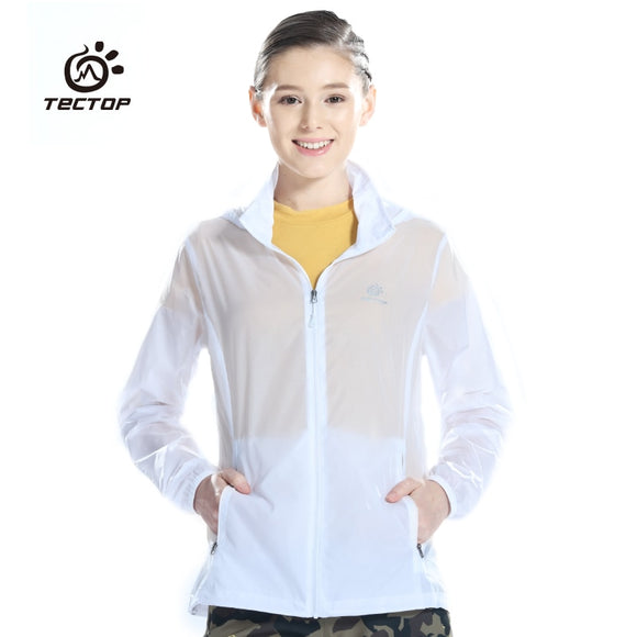 Tectop Outdoor Men male Women's Fast Drying Waterproof ultra-thin Sun Protection Skin Jacket Quick Dry Cloth Camping hiking