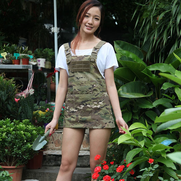 outdoor camping hiking tactical apron Nylon aprons military Grid cloth waterproof camouflage repair waterproof apron