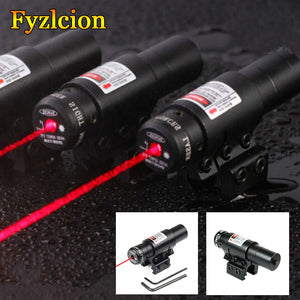 Tactical Pistol 650nm Red Laser Sight With QQ Scope Cliper For Crossbow Bow/Rifle Fit  20mm Picatinny Rail Mount