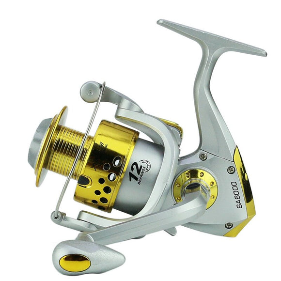 2018 Direct Selling Real River Daiwa Spinning Reel Hengelsport Fishing Line Round Fish Wheel The Sea Pole Plastic Head Yellow
