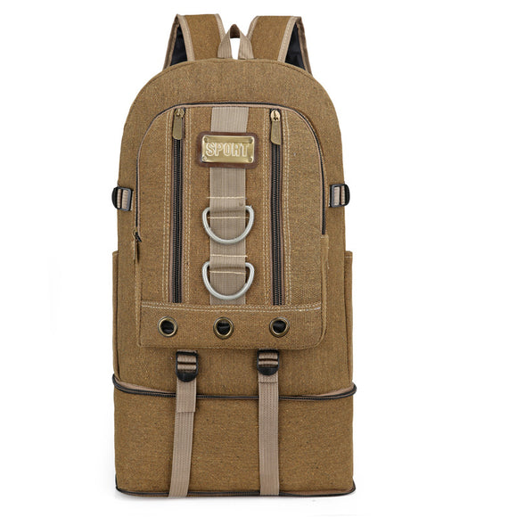 Military Hiking Backpack Outdoor Camping Travel Mountaineering Bag Men Large Lightweight Canvas Luggage Tactical Backpack 2020