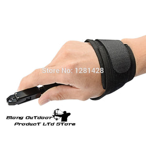 New Elong Outdoor Black Color Archery Caliper Release Aid Compound Bow Strap Shooting Pro Arrow Trigger Wristband Archery Bow