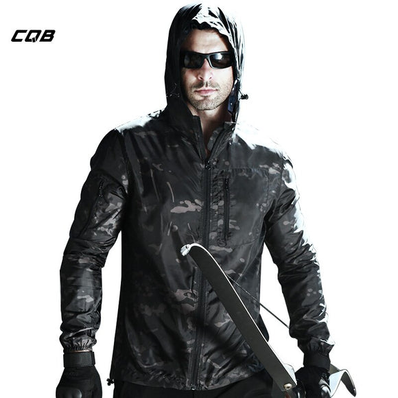 CQB Outdoor Sports Camping Tactical Camouflage Sunscreen Jacket Men's Water Repellent Cloth Quick Dry Breathable Coat
