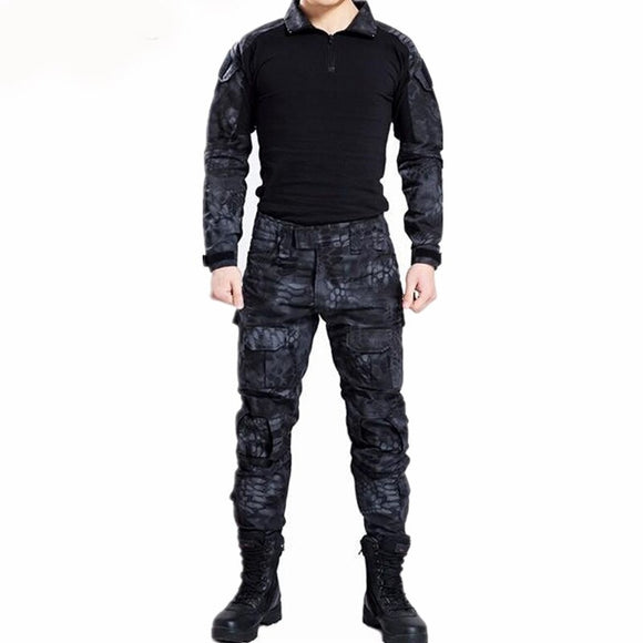 Paintball Tactical Camouflage Military Uniform Camouflage Combat Suit Military Clothing for Hunter and Fishing Shirt and Pants