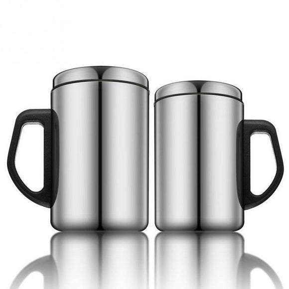 1pc 350/500ml Outdoor Drinking Cup Stainless Steel Thermoses Cup with Handle Camping Travel Picnic Insulation Mug #1128