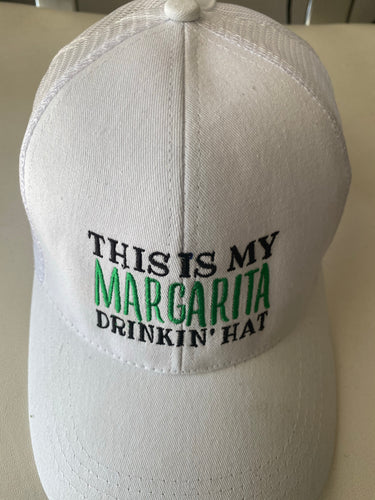 Women's White Margarita Drinking Hat - Margaritashack