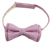 将图片加载到图库查看器,Sutton Kids Pink Gingham Bowtie 0-6M, 6-10Y