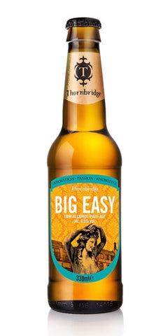 A bottle of Big Easy, a pale ale, full of flavour but non-alcoholic