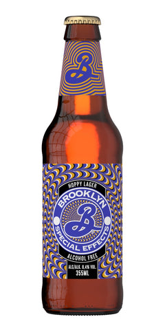 A bottle of Brooklyn Special Effects alcohol-free beer