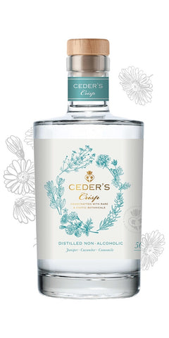 Bottle of Ceder's Crisp, a non-alcoholic alternative to gin