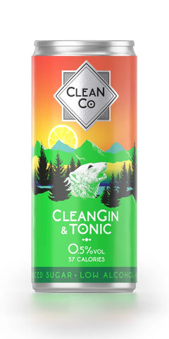A can of CleanGin, a low alcohol alternative to a London dry gin & tonic