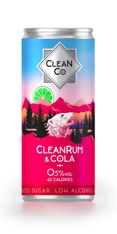 A can of CleanRum & Cola, a low alcohol alternative to traditional Jamaican rum.