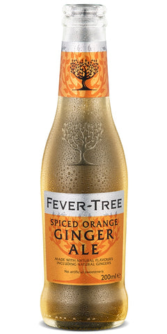 A bottle of Fever-Tree Spiced Orange Ginger Ale, a unique blend of signature gingers, combined with sweet clementines and spicy cinnamon