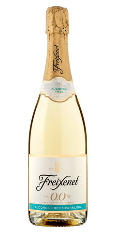 A bottle of Freixenet 0.0%, a refreshing non-alcoholic sparkling wine
