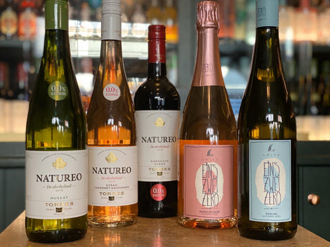A selection of our most delicious alcohol-free wines: red, white, rosé, sparkling - all with zero alcohol